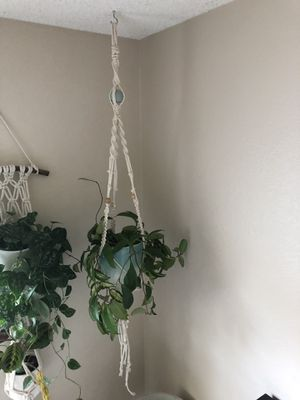 Beaded macrame for plant hanging for Sale in San Diego, CA