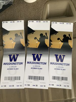 Huskies v Oregon tickets for Sale in Seattle, WA