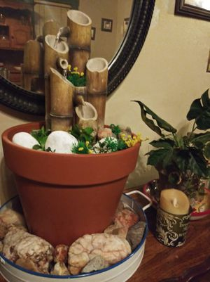 Water fountains and live plants Arrangements for Sale in Bakersfield, CA
