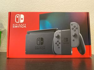New Nintendo Switch Console v2 - Gray Joy con for Sale in Westminster, CA