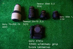 Sony A7riv camera gear for sale for Sale in Wallingford, CT