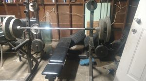 Weight set for the big guys for Sale in San Francisco, CA