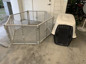 Dog crate and super yard for Sale in Tampa, FL