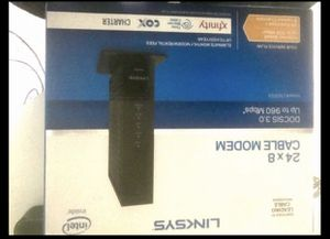 Linksys 24*8 cable modem for Sale in Spring, TX