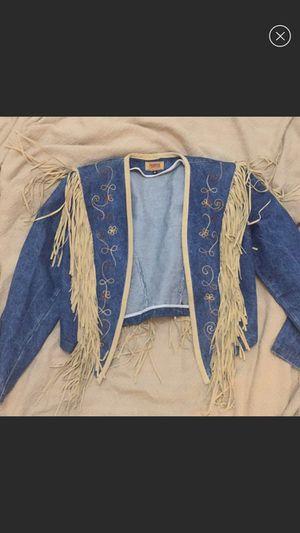 Vintage Denim and Pig Leather Bolero Western Jacket for Sale in Tampa, FL