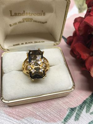Antique Gold plated crystal stone ring Sz8 for Sale in Wood Dale, IL
