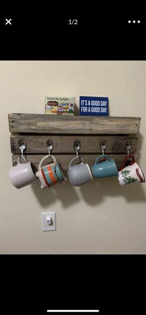 Coffee mug holder with shelf on top for Sale in Fuquay-Varina, NC