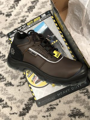 Men Work Boot Safety Jogger Pluto Leather Brown Black Size 7.5 100% Original Brand New. Condition is New in Box for Sale in Canton, MI