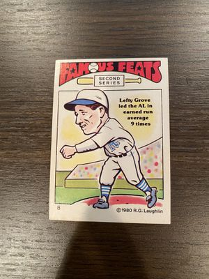 Lefty Grove (Baseball Card) 1980 Laughlin Famous Feats Second Series for Sale in Vienna, VA