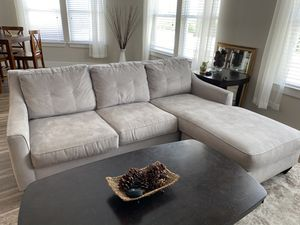Grey Chaise Couch for Sale in Houston, TX