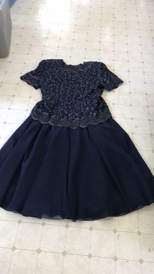Navy Sequined and Beaded Dress for Sale in Norfolk, VA