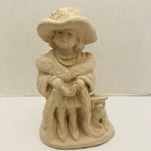 """Vintage Adorable 1987 AUSTIN PROD INC. """"Bright Eyes"""" Sculpture By Dee Crowley Little Girl And Dog for Sale in Hudson, FL"""