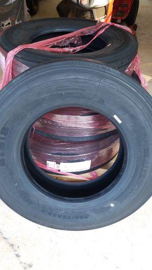 295/75 22.5 trailer tires set. for Sale in Greer, SC