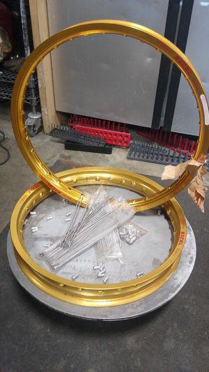 New! Excel racing Gold dirt bike Motocross wheels w/ stainless steel spokes! for Sale in Granite Falls, WA
