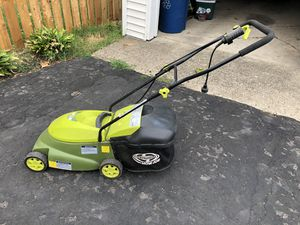 "Sun Joe MJ401E 14"" 12 amp electric lawn mower with grass bag for Sale in Columbus, OH"