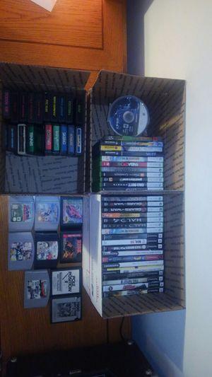 Huge Videogame Lot (Atari 2600, N64, GC, Xbox 360, PS3, PS2, Atari 7800, Sega Genesis) for Sale in Tallahassee, FL