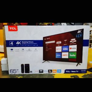 Tcl roku 65 inch 4K tv smart with warranty for Sale in Los Angeles, CA