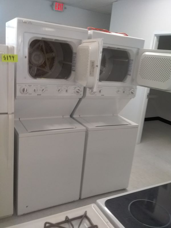 Kenmore ge stackable washer and dryer used good condition 90days warranty 27inches