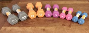 *NEW* CAP Neoprene Coated Hex Dumbbell Weight Set for Sale in Washington, DC