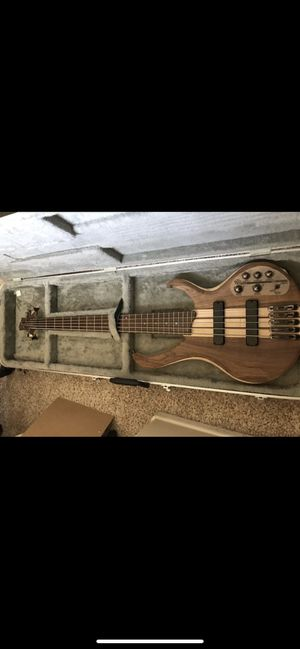 Ibanez 5 string bass guitar, BTB675, Ampeg BA-108 Bass Amp and Hard Case for Sale in Perris, CA