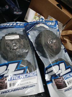 Proline Trencher 2.8 Tires And Desperado Rims Brand New Traxxas, Arrma for Sale in Portland,  OR