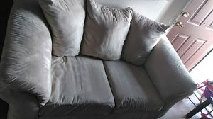 Off white two-piece sectional suede couches for Sale in Phoenix, AZ