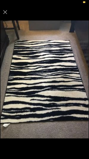 Beautiful zebra paint rug for Sale in Alexandria, VA