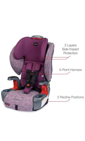Britax Grow with You ClickTight Harness-2-Booster Car Seat in Mulberry Purple for Sale in Crown Point, IN