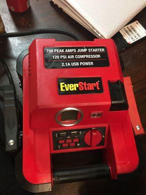 EverStart jump starter with digital compressor for Sale in Bakersfield, CA