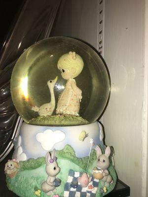 Precious moments musical snow globe collectible for Sale in Marietta, GA