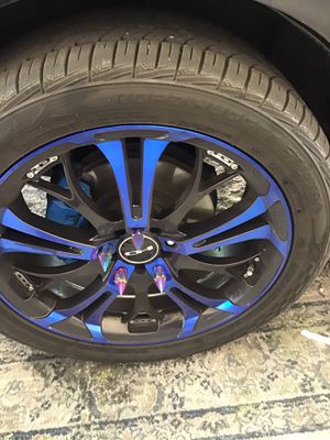 Set of 4 rims and tires for Sale in Las Vegas, NV