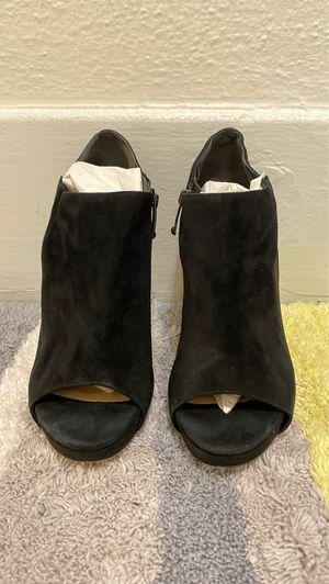 VIA SPIGA black suede heels. Size 7 1/2. for Sale in Torrance, CA
