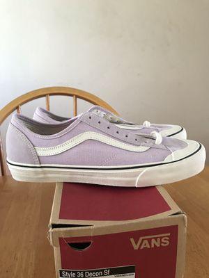 Brand new vans skate skateboard shoes lavender fog style 36 men's size 12 for Sale in La Mesa, CA