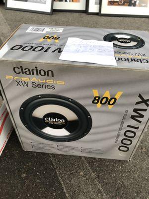 "Clarion 10"" sub xw1000 pro audio series for Sale in Huntington Beach, CA"