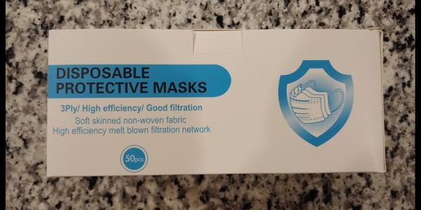 NEW Disposable Protective Face Masks (50 pieces)