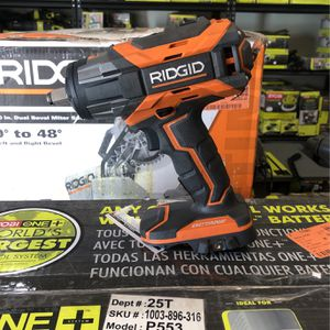 "Like New Ridgid 1/2"" Impact Wrench Driver With Battery And Charger $180 for Sale in La Habra, CA"