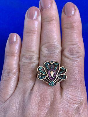 Ring Size 10.5 Ruby Emerald Topaz Lotus for Sale in Nashville, TN