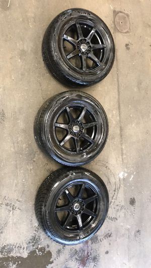 "3 rims and tires 16"" 5x114.3 for Sale in Seattle, WA"