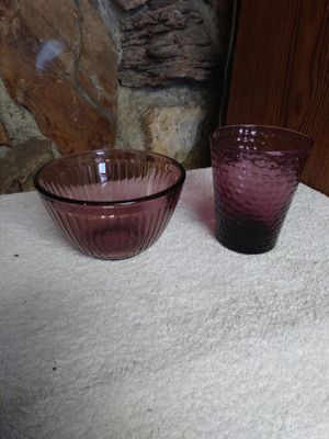 glass bowl and cup for Sale in Long Beach, CA