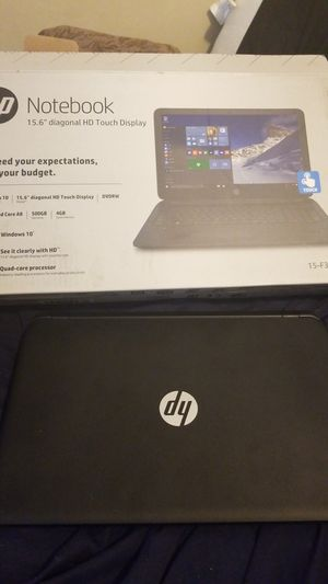 "hp notebook 15.6"" touch screen for Sale in Washington, DC"