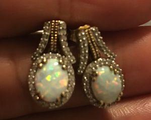 925 Opal Diamond JWBR Earring Kay Jewelers for Sale in Hialeah, FL