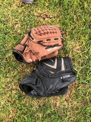 Two baseball gloves for Sale in Gustine, CA