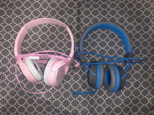 2 -blue n pink headphones for Sale in Hayward, CA