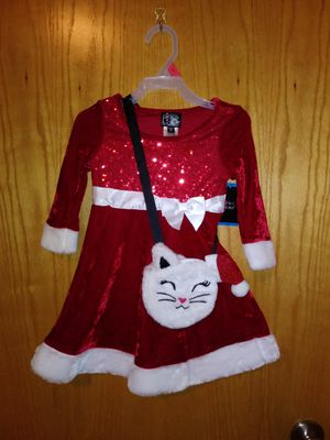 Toddler Mrs. clause dress W/Purse for Sale in Buffalo, MN