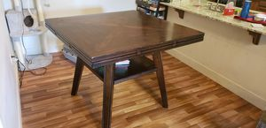 Dark oak dining table with 6 chairs for Sale in Layton, UT