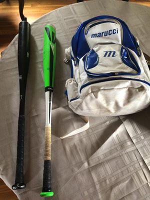 Marucci Black 2 33-30 BBCOR CERT. Easton MAKO Torq 33-30 and Marucci bag for Sale in Stoneham, MA