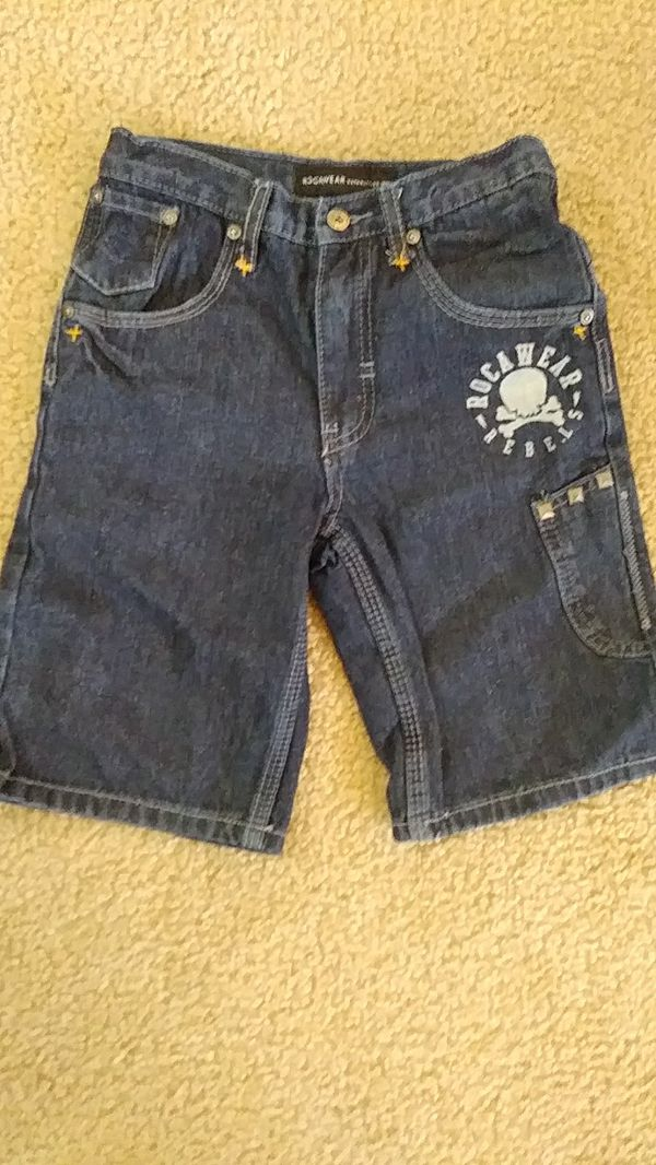 Size 6 ™Rocawear boys LIKE NEW jean shorts with adjustable waist