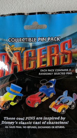 Disney Mickey racers myself pack pins new 10$ for Sale in Pico Rivera, CA