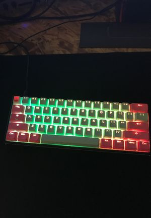 Ducky One 2 Mini (brown switches) with Miami keycaps for Sale in Palm Desert, CA