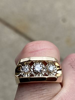 14k men's diamond ring vs1 for Sale in SKOKIE, IL